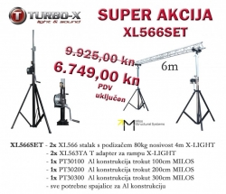 XL566SET Aluminijska rampa 6m sa stalcima X-LIGHT
